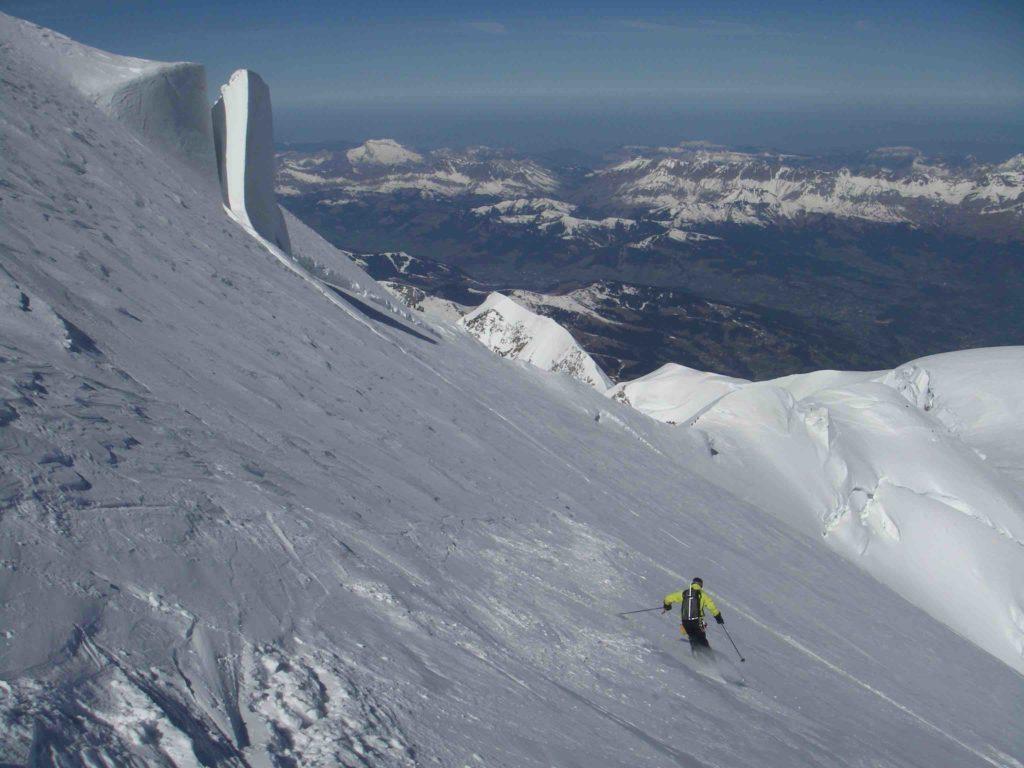 descente de la face nord du sommet du Mont-Blanc